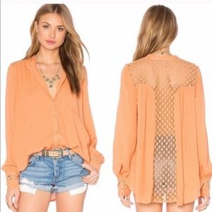 """Free People """"The Best Button Down"""" Blouse"""
